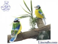 Soft Toy Countryside Bird, Blue Tit by Hansa (10cm)