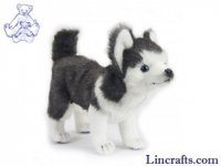 Soft Toy Dog, Husky Pup by Hansa (20cm.H)