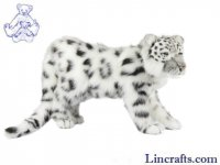 Soft Toy Snow Leopard Standing by Hansa 45cm
