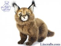 Soft Toy Wildcat, Caracal Cat by Hansa (26cm)