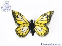 Soft Toy Yellow Butterfly by Hansa (14cm)