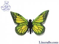 Soft Toy Green Butterfly by Hansa (14cm)