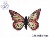 Soft Toy Red Butterfly by Hansa 14cm