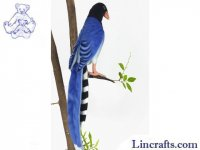 Soft Toy Bird, Taiwanese Blue Magpie by Hansa (19cm.H)