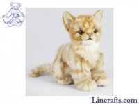 Soft Toy Ginger Tabby Cat by Hansa (19cm.H)