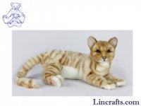 Soft Toy Ginger Tabby Cat by Hansa (37cm.L)