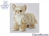 Soft Toy Cat, Ginger Kitten by Hansa (22cm.L)