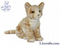 Soft Toy Cat, Ginger Kitten Sitting by Hansa (40cm.L)