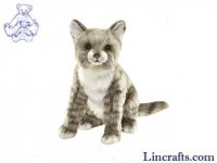 Soft Toy Grey Tabby Cat by Hansa (25cm.H)