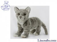 Soft Toy Grey Cat by Hansa (40cm.L)