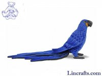 Soft Toy Bird, Hyacinth Macaw by Hansa (50cm.L) 7371