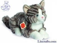 Grey Cat Lying by Teddy Hermann (30cm)