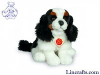 King Charles Spaniel Sitting by Teddy Hermann 25cm
