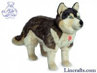Soft Toy Dog, Husky by Teddy Hermann (50cm) 91934