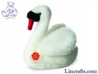 Soft Toy Water Bird, White Swan by Teddy Hermann (25cm) 93137