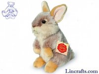 Soft Toy Brown Bunny Rabbit by Teddy Hermann (20 cm)