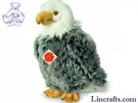 Soft Toy Bird of Prey, Bald Eagle by Teddy Hermann (28cm) 94152
