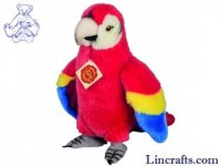 Soft Toy Bird, Parrot by Teddy Hermann (24 cm)