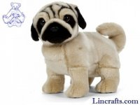 Soft Toy Pug Standing by Living Nature (25cm) AN411