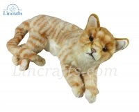 Soft Toy Ginger Tabby Cat by Hansa (37cm.L) 7197