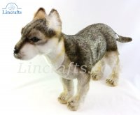 Soft Toy Wolf Cub Standing by Hansa (50 cm.L) 6719