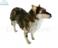 Soft Toy Wolf Standing by Hansa (60cm.L)