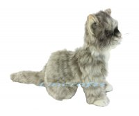 Soft Toy Cat, Grey Kitten by Hansa (20cm.L)
