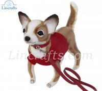Soft Toy Chihuahua with Red Shirt & Lead (24cm) 7551