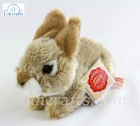 Soft Toy Beige Rabbit by Teddy Hermann (19cm) 93703