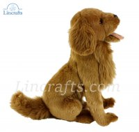 Soft Toy Dog, Golden Retriever by Hansa (32cm) 6202