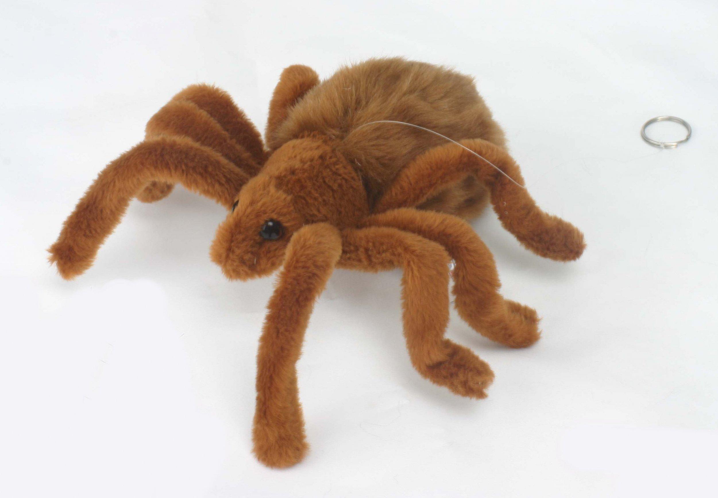 Tarantula Stuffed Animal, Soft Toy Arachnid Brown Tarantula Spider By Hansa 19cm 4726 Lincrafts
