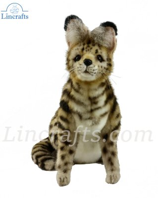 Soft Toy Wildcat, African Serval Cat Sitting 44cm.L 7373