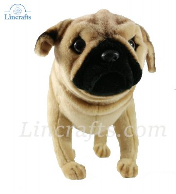 Soft Toy Pug Puppy Dog by Hansa (38cm) 5951