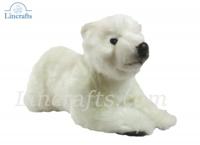 Soft Toy Bear Polar Cub Floppy by Hansa (43 cmL)