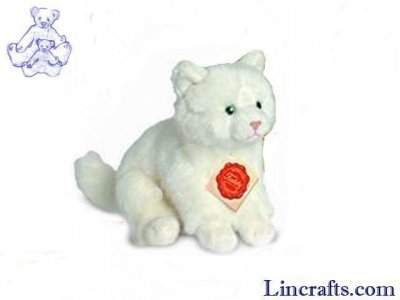 Soft Toy White Cat by Teddy Hermann (17cm) 90605