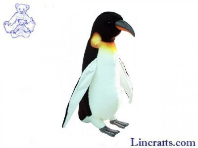 Soft Toy Bird, Emperor Penguin by Hansa (120cm H) 2467