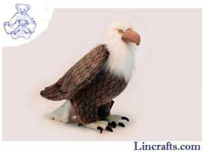 Soft Toy Bird of Prey, American Bald Eagle by Hansa (45cm)
