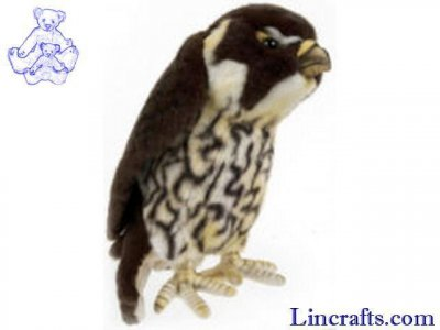 Soft Toy Bird of Prey, Falcon by Hansa (26cm) 3081