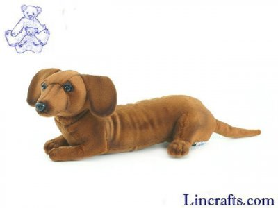 Soft Toy Dog, Dachshund by Hansa (30cm)