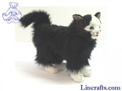 Soft Toy Cat Black by Hansa (30cm)