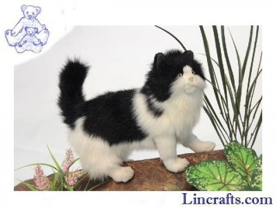 Soft Toy Black and White Cat by Hansa 40 cm.L