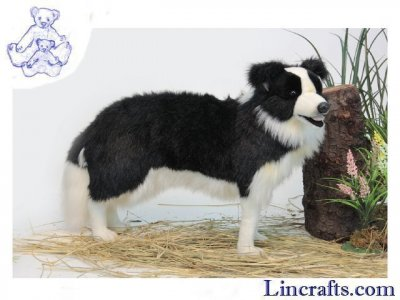 Soft Toy Dog, Border Collie by Hansa (84cm)