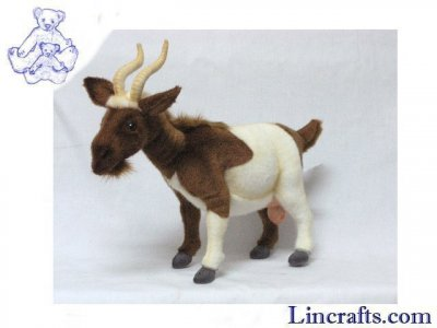 Soft Toy Brown & White Goat by Hansa (48cm) 4624