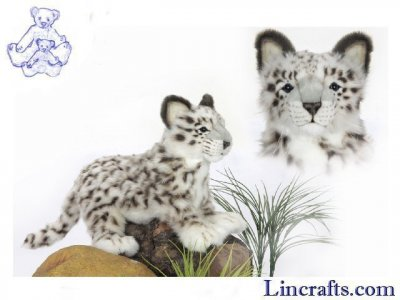 Soft Toy Snow Leopard by Hansa (42cm) 4986