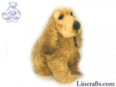 Soft Toy Dog, Cocker Spaniel by Hansa (30cm) 5038