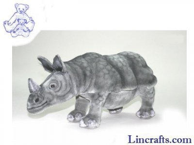 Soft Toy Indian Rhino by Hansa (48cm)