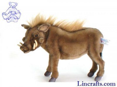 Soft Toy Warthog by Hansa (35cm) 5162