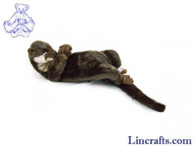 Soft Toy Otter resting by Hansa (25cm)
