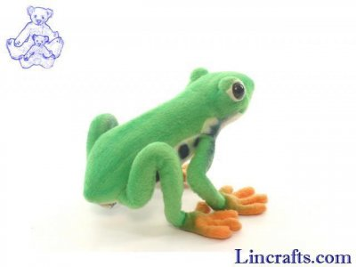 Soft Toy Red Eyed Tree Frog by Hansa (17cm)