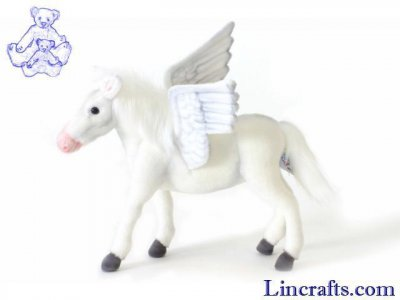 Soft Toy Pegasus, Flying Horse, by Hansa (30cm) 5253